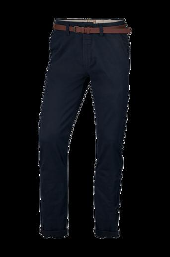 Chino Pants Belt Stretch Twill -housut