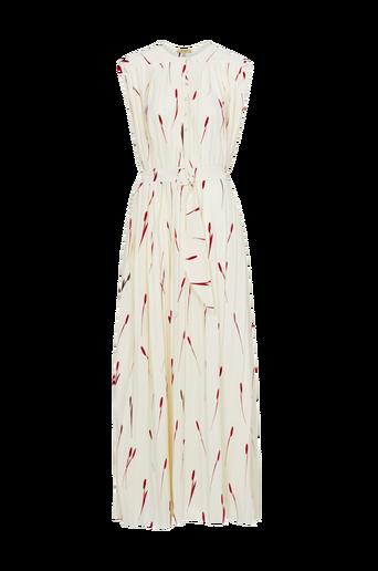 Alma Pleat Tulip Print maksimekko