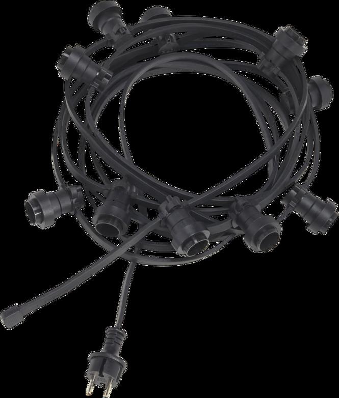 Ljusslinga svart 7,2 m