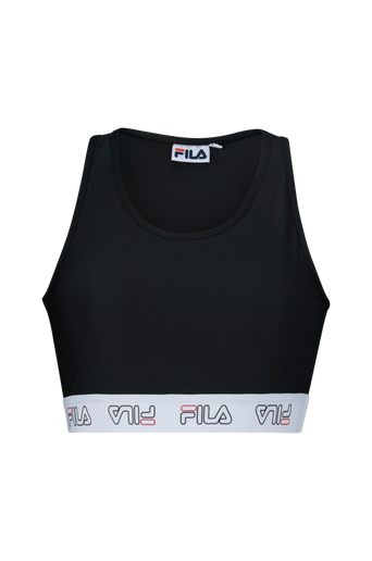 FILA Taped Crop -urheiluliivit, joissa logo alareunan kumiauhassa