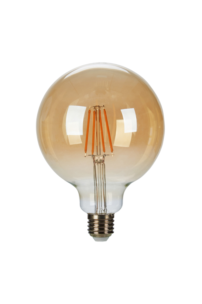 Filament E27 Glob 125mm 6W Dimbar