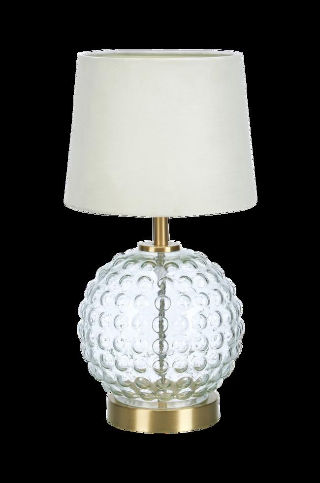 Bilde av Bordlampe Bubblies Messing/klar/hvit