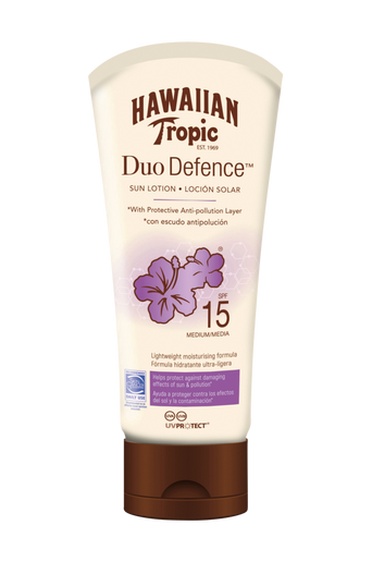Hawaiian DuoDefence Sun Lotion SPF 15. 180 ml