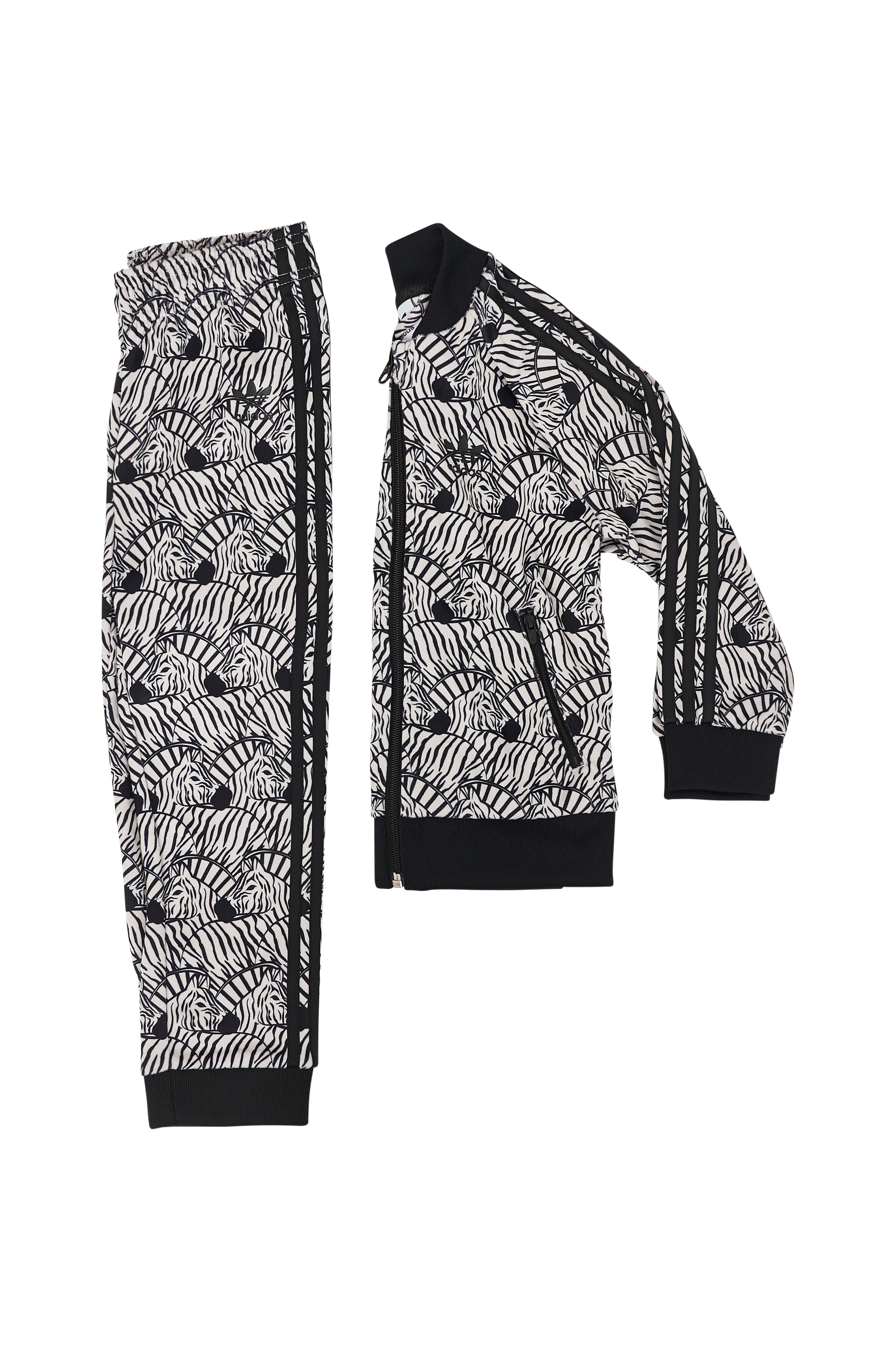 081af7d2a5c adidas Originals Zebra SST Track Suit -treeniasu - Ruskea - Lapset -  Ellos.fi