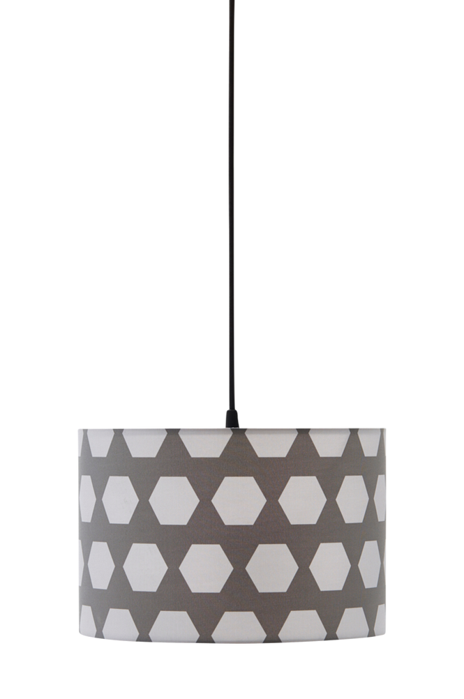Taklampa Hexagon Grå