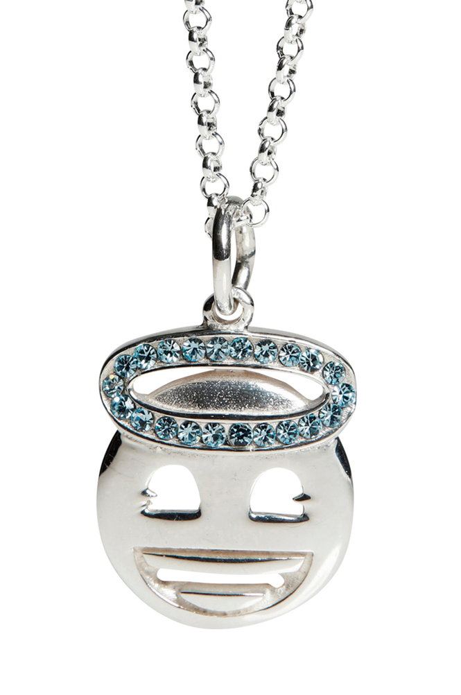 Kalas Halskæde Silver Emoji Halo