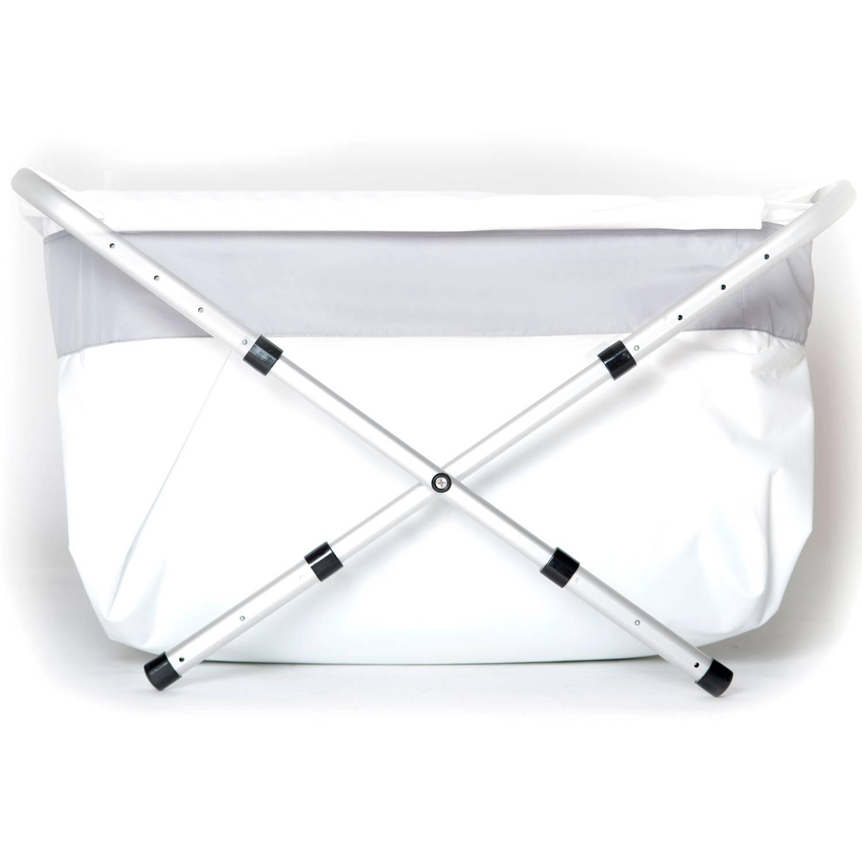 Flexi-kylpyamme, 60-80 cm, hopeanvärinen