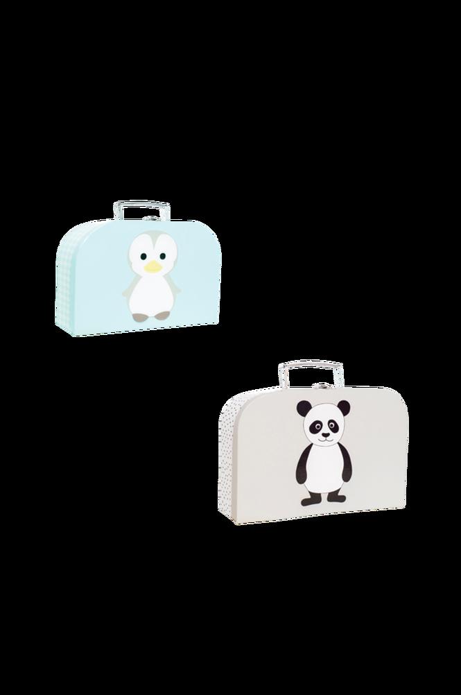 Pappväska 2-p Pingvin & Panda