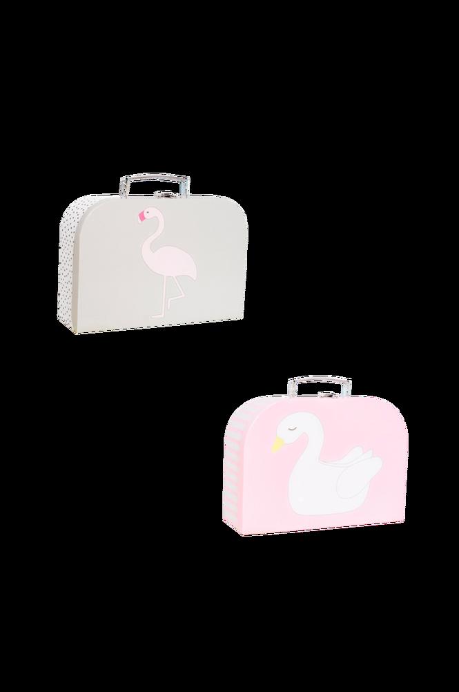 Pappväska 2-p Svan & Flamingo