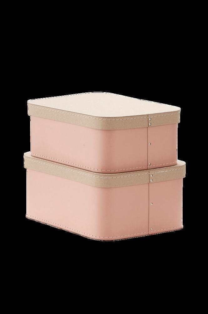 Förvaringsbox Love 2-pack Rosa