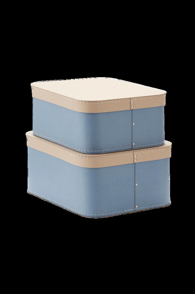 Förvaringsbox Love 2-pack Blå