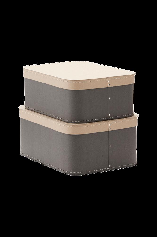 Förvaringsbox Love 2-pack Grå