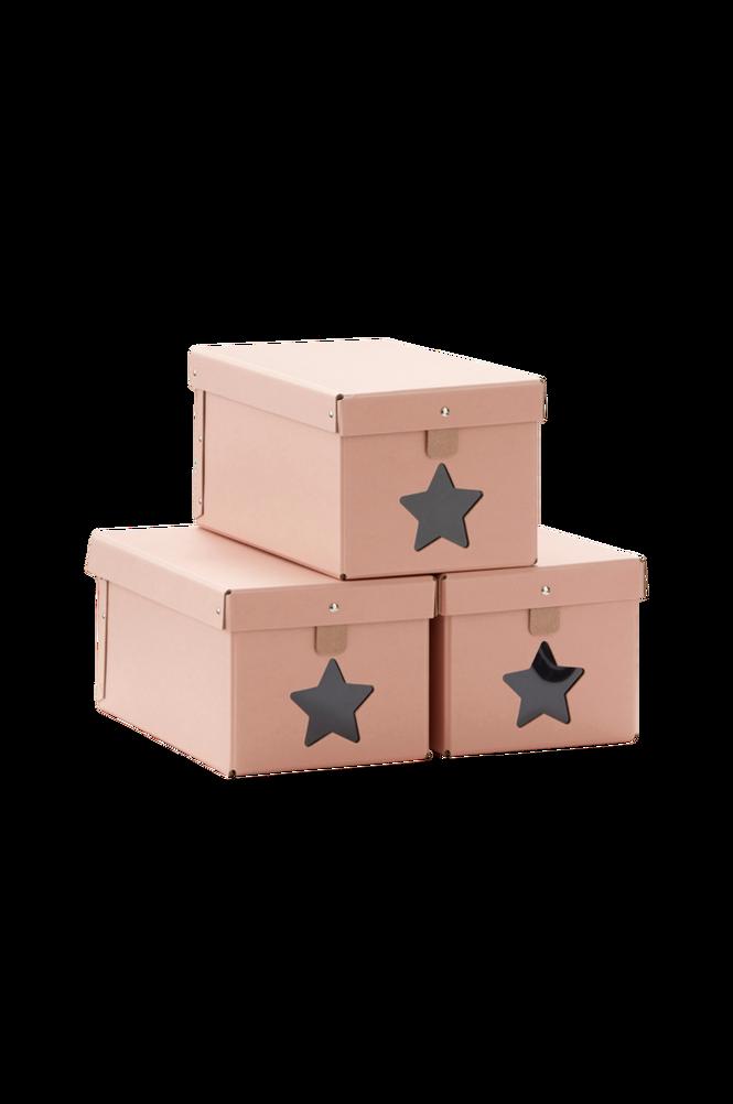 Skolåda 3-pack Rosa