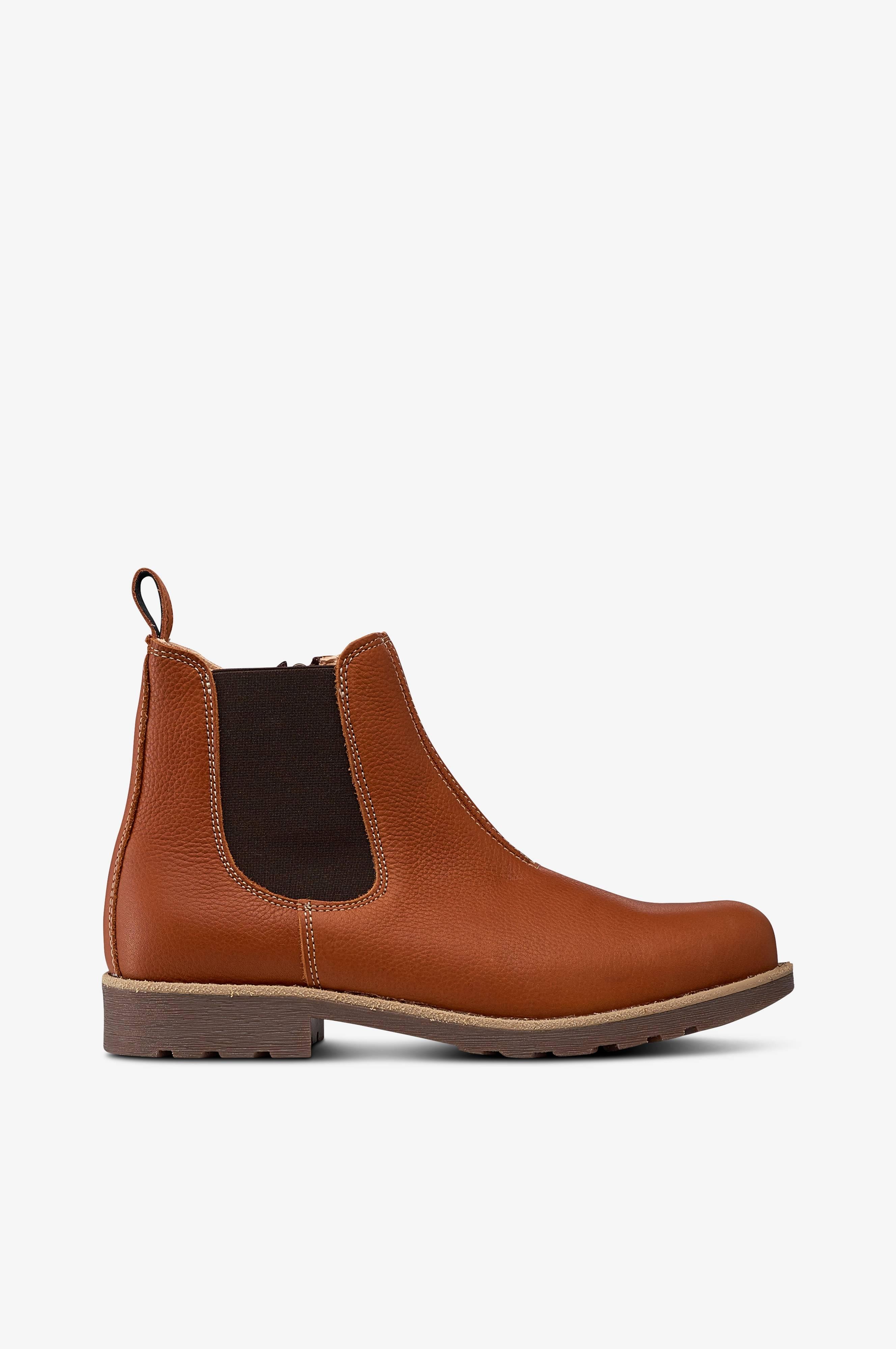 Billige Kavat Læder Støvler Dame I Mørkebrun