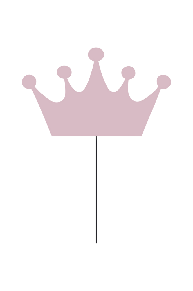 Vägglampa Crown Rosa