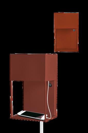 Box-seinävalaisin, jossa USB-liitäntä