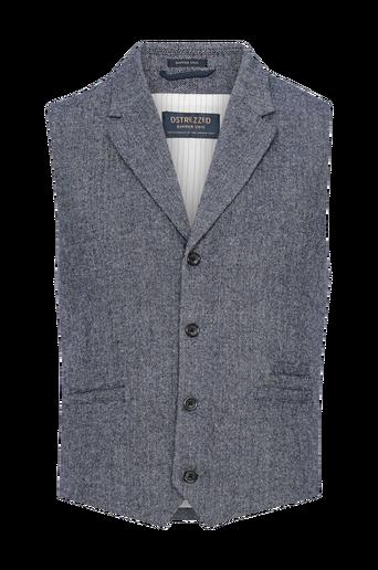 Gilet Herringbone Wool Tweed Naps liivi