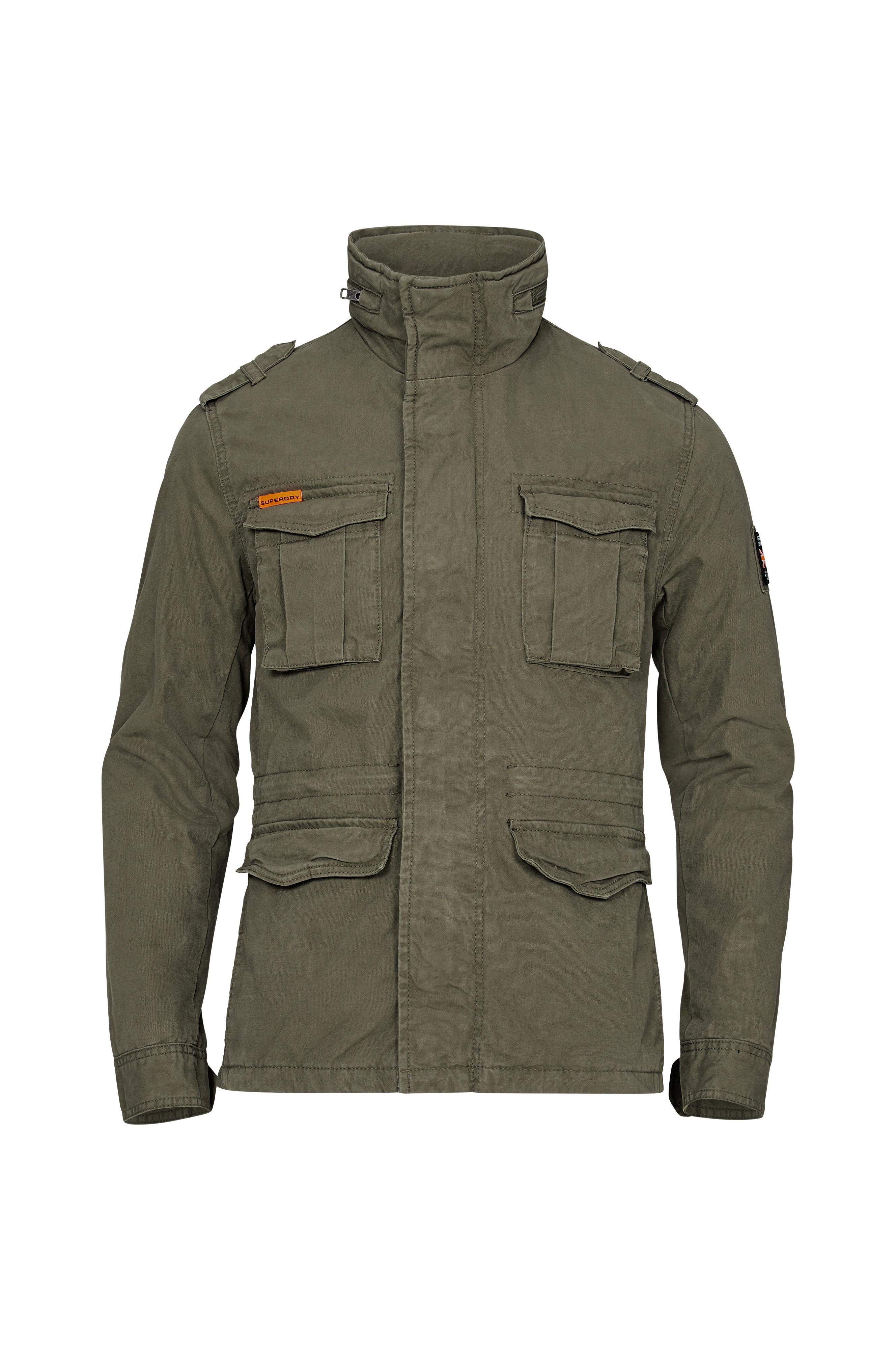 Superdry Jakke Classic Rookie Military Jacket - Grøn - Herre - Ellos.dk