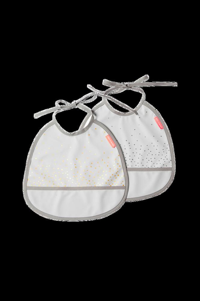 Haklapp 2-pack Happy Dots Grey