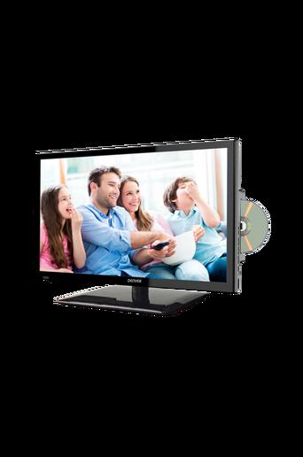 24 tuuman LED-TV, jossa sisäänrakennettu DVD