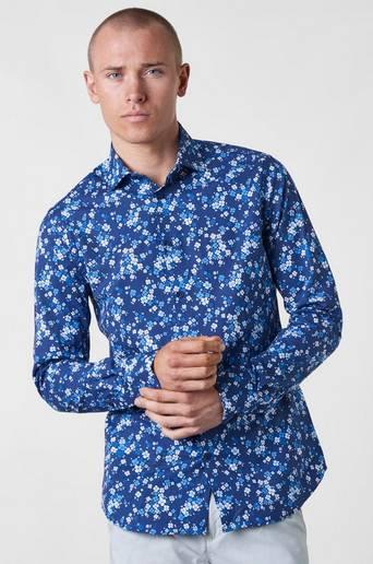 Henry Daisy Shirt Navy kauluspaita