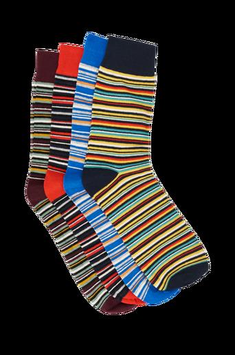 jacColor Stripe Socks -sukat, 4 paria