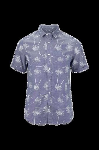 OnsCalton SS Printed Chambray Shirt -kauluspaita