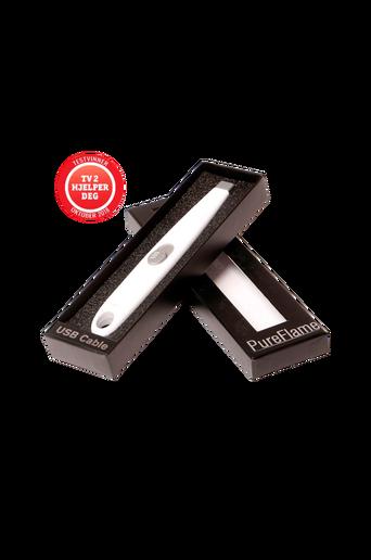 USB-sähkösytytin, valkoinen