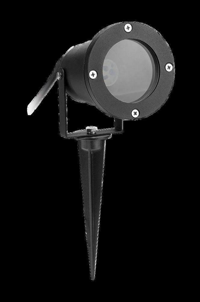 Trädgårds-spotlight IP65 Svart