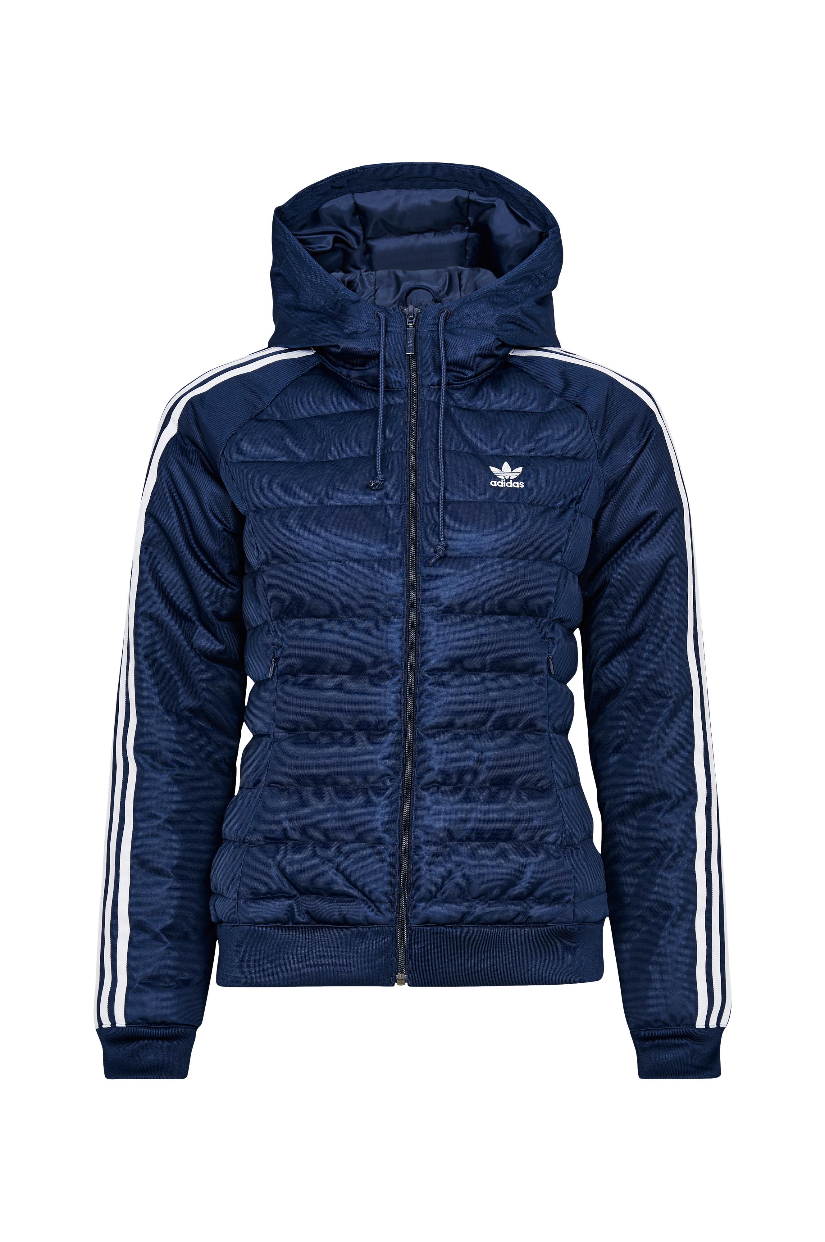 adidas Originals Jakke Slim Jacket Blå Dame Ellos.no