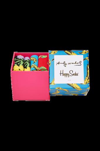 Andy Warhol Sock Box Set sukkalahjapakkaus, 4/pakk