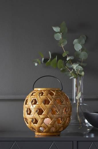 Crochet kynttilälyhty, korkeus 20 cm