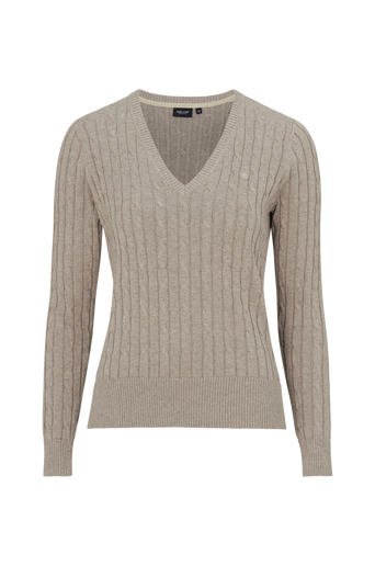 Cable V-neck -neulepusero