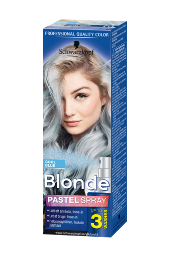 Blonde Pastel Spray Cool Blue
