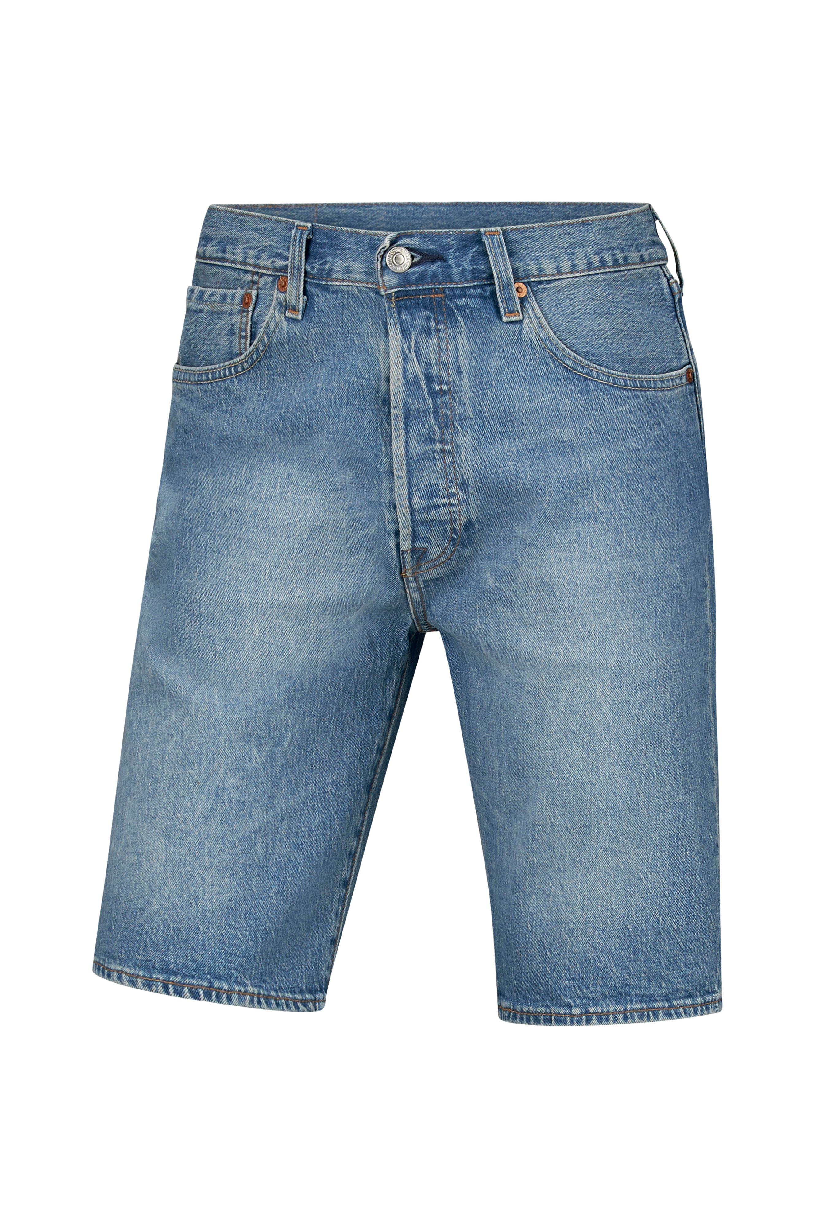 Levi s Jeansshorts 501 Hemmed Short Baywater - Blå - Herr - Ellos.se 0d73e6518323e