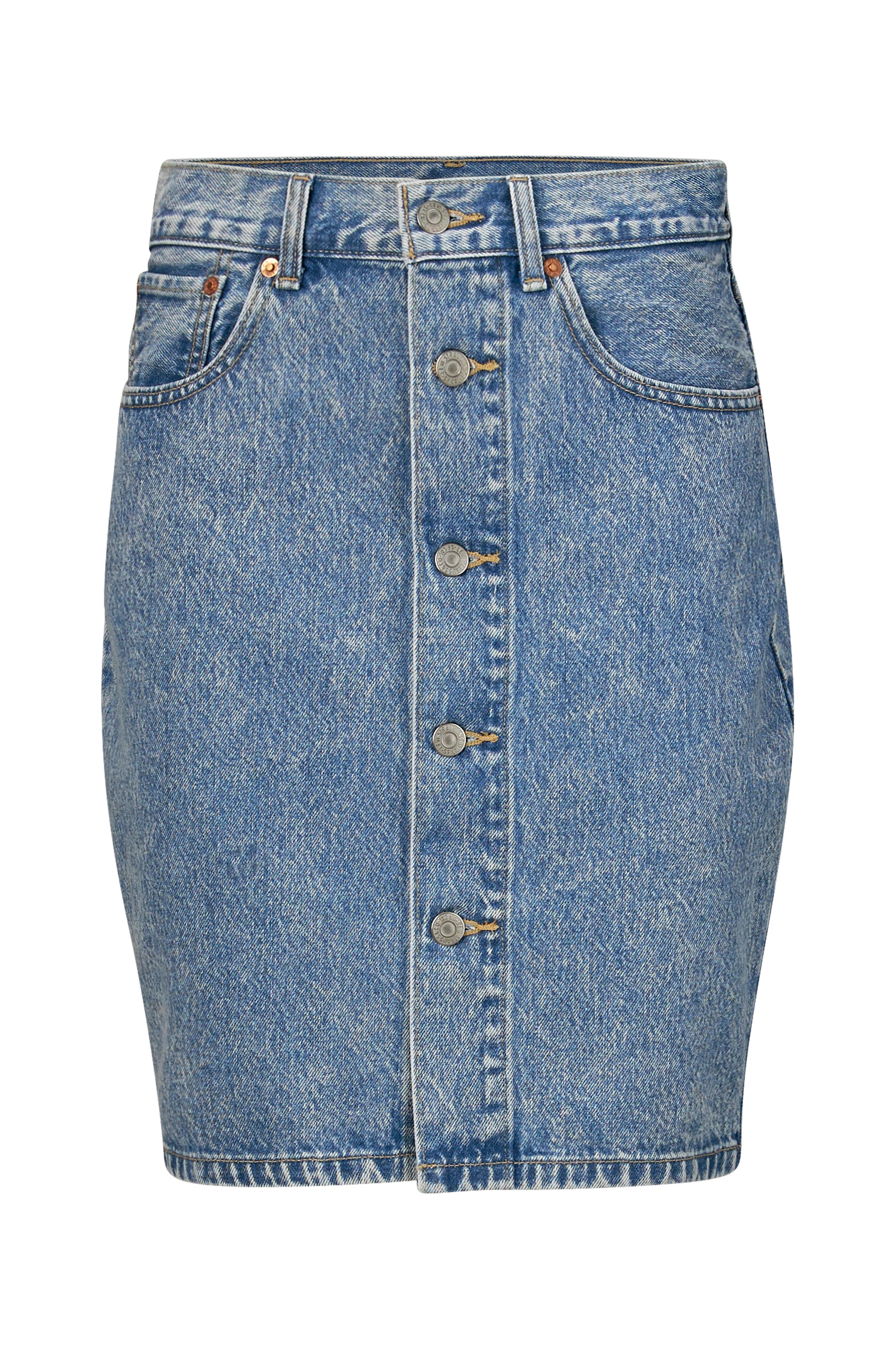 Jeanskjol Button Thru Mom Skirt Heart Of