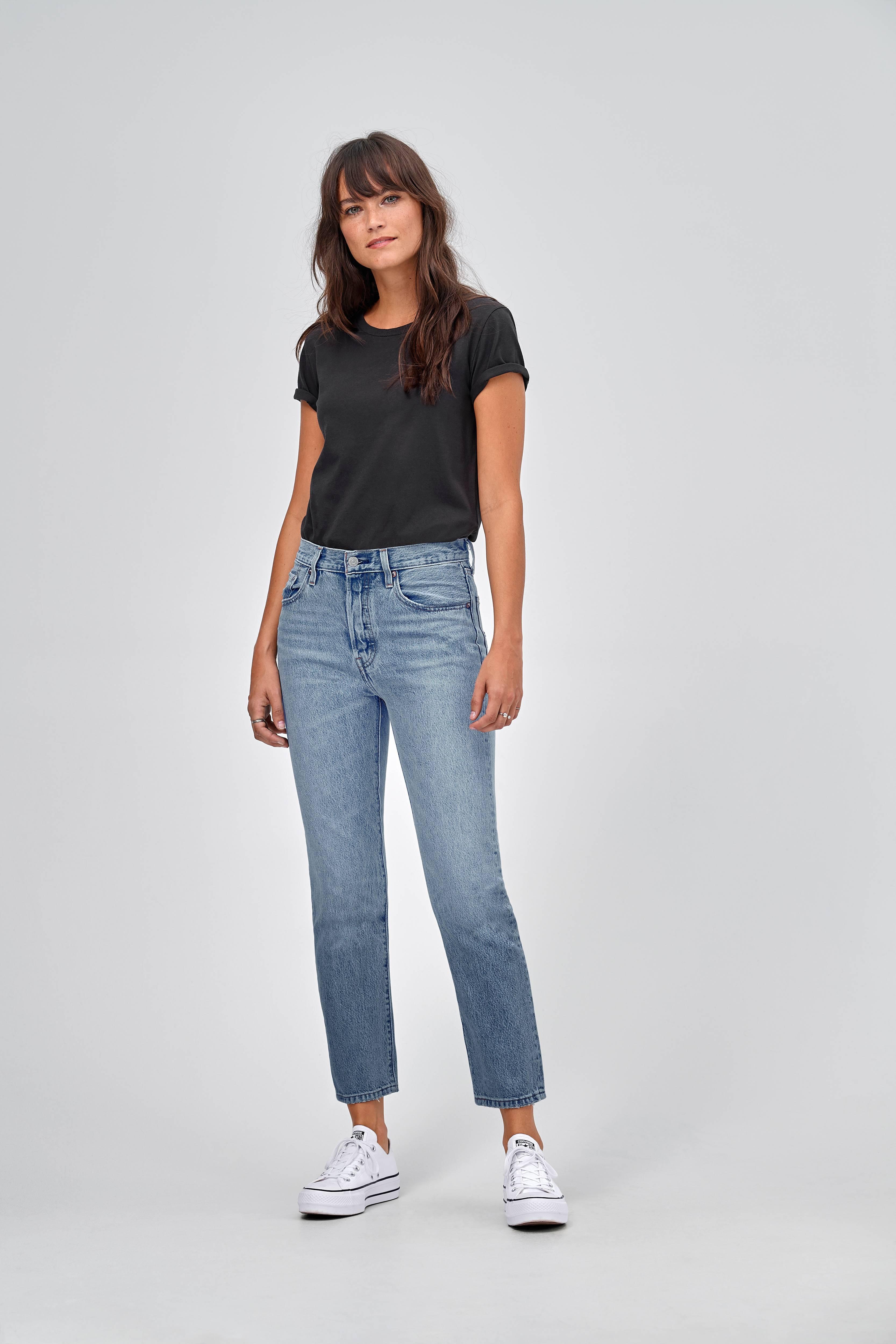 472c537208c Levi's Jeans 501 Crop Lovefool - Blå - Dame - Ellos.dk