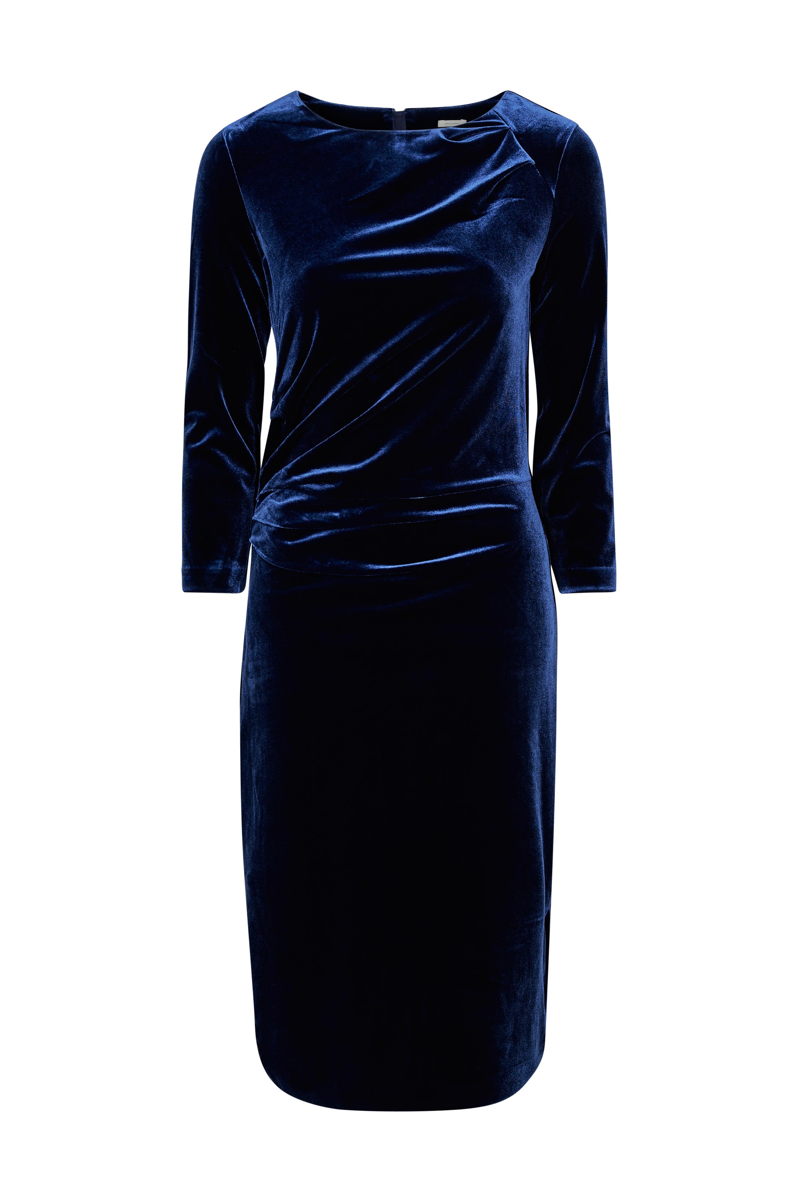InWear Velourkjole Nisas Dress Blå Dame Ellos.dk