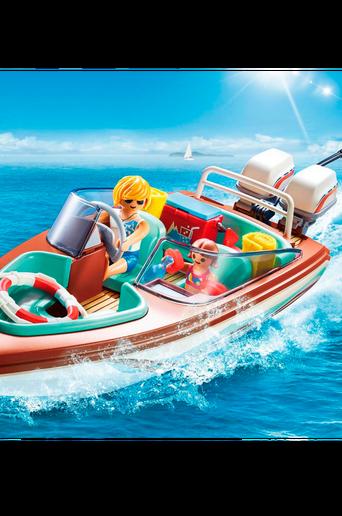 Moottorivene, jossa vedenalainen moottori