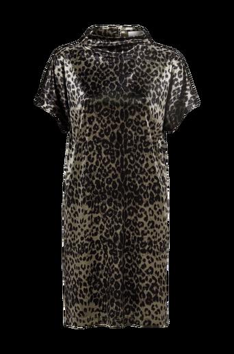 Animal Velvet Dress samettimekko, leopardikuvioinen