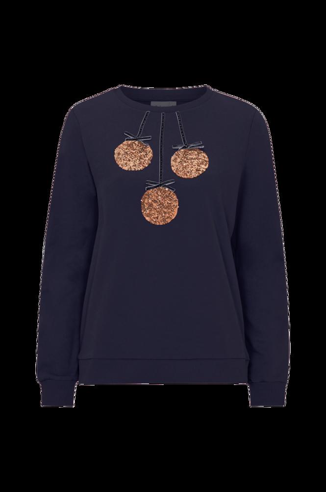 Saint Tropez Sweatshirt med pailletter