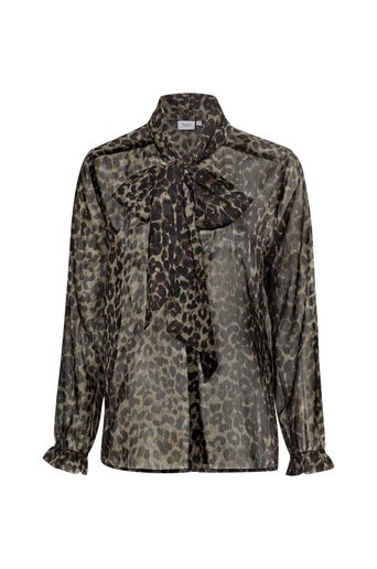 Animal Shirt Bow solmimisnauhapaita, leopardikuvioinen
