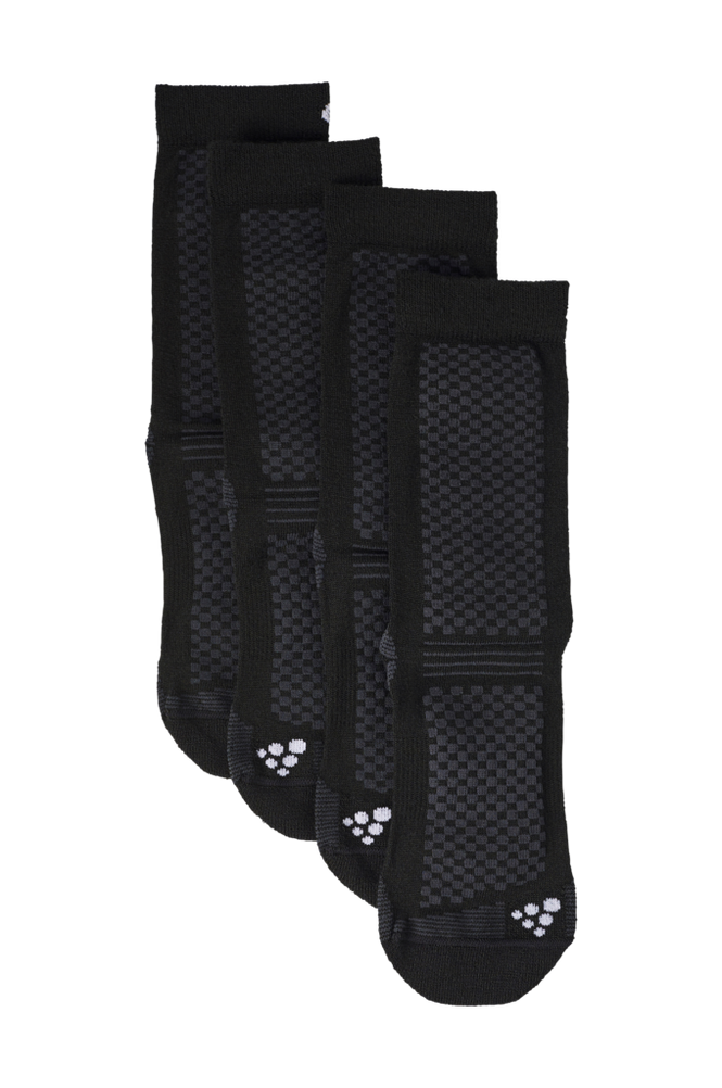 Craft Strømper Warm Mid 2-pak Sock