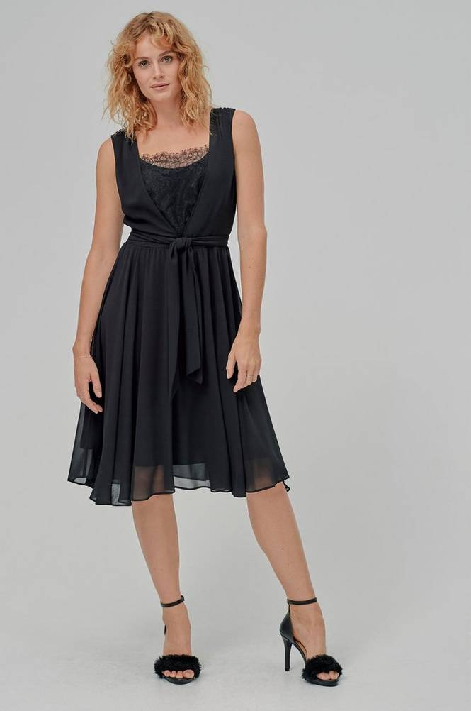 Esprit Kjole Fluent Chiffon Dress
