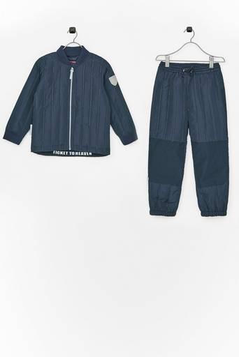 Tikattu 2-osainen setti, takki ja housut