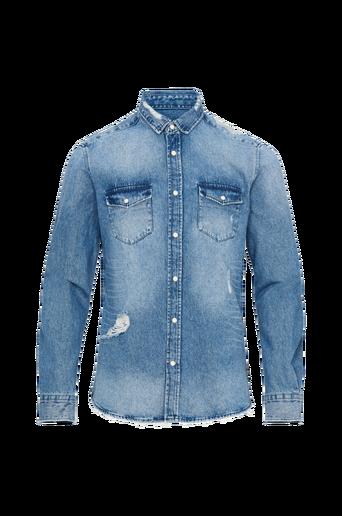 OnsKerstan LS Destroyed Denim Shirt -farkkupaita