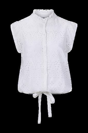 Embroidery Anglais Ruffle Top -paita