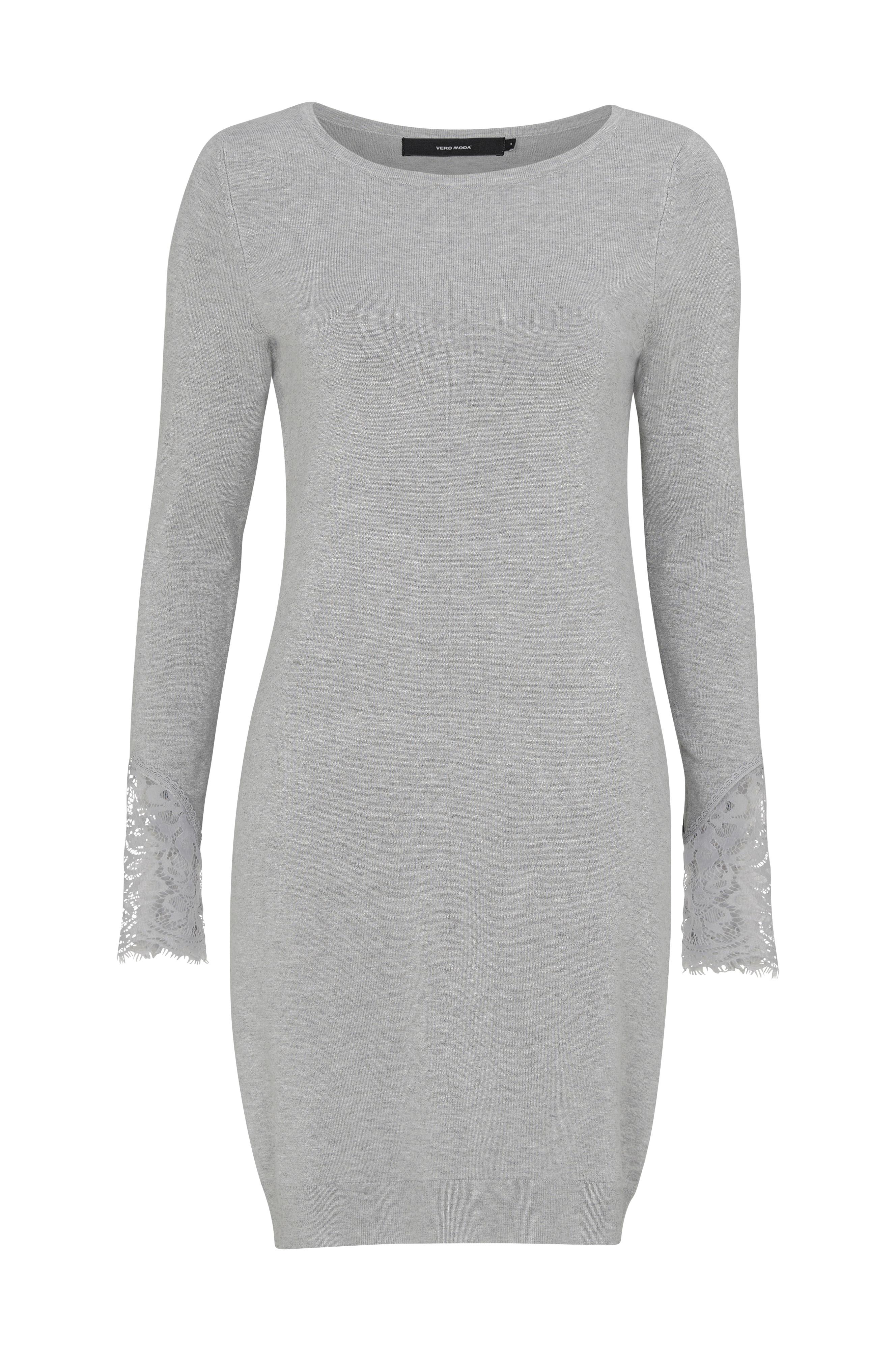 7a4d22b684ac Vero Moda Kjole vmAdo Glory LS Boatneck Dress - Grå - Dame - Ellos.no