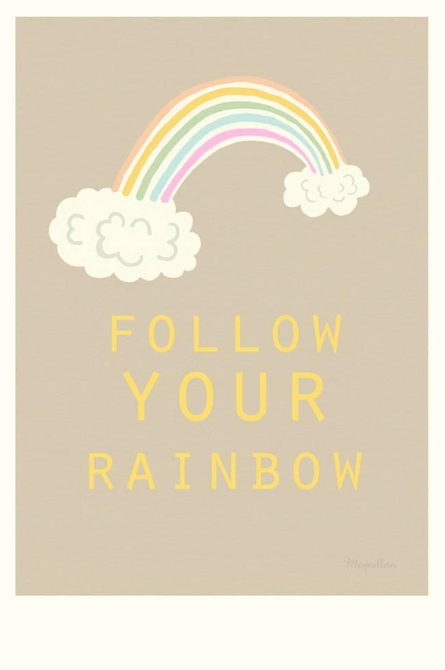 Bilde av Poster Follow your Rainbow A4