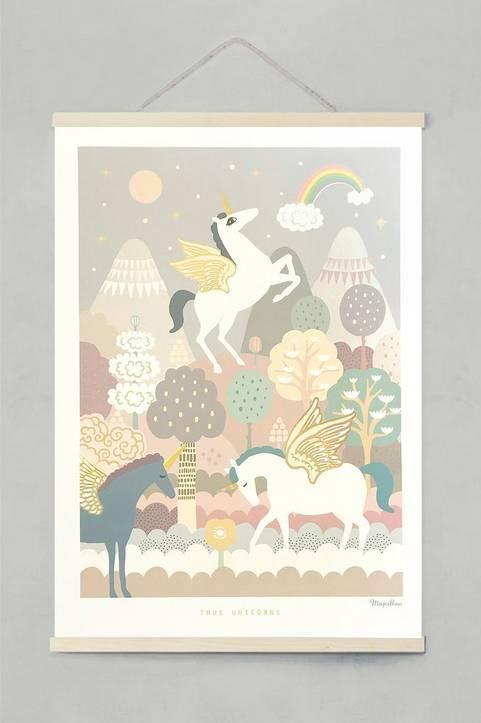 Poster True Unicorns 50x70 cm